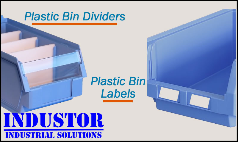 Plastic Bin Labels and Dividers